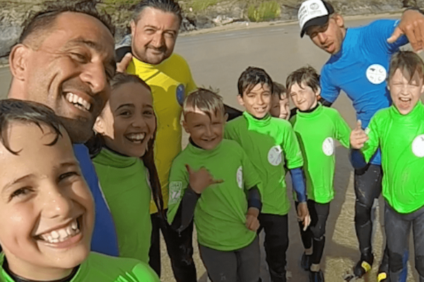 family surf lessons in cornwall