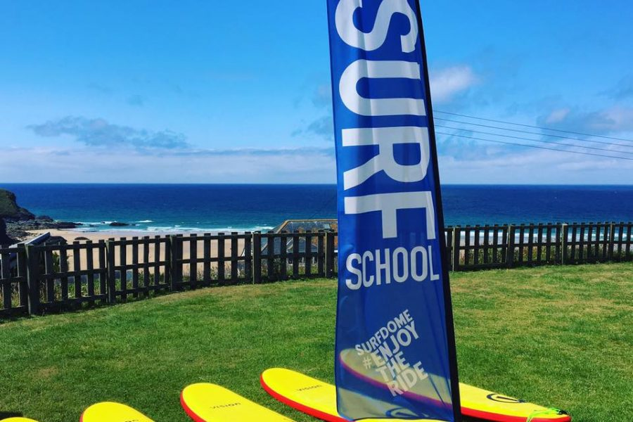 Surf lessons at The Surf Club Cornwall